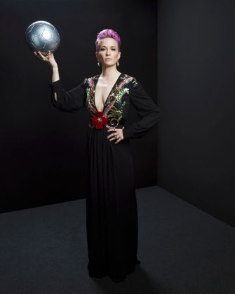 MILAN, ITALY - SEPTEMBER 23:  The Best FIFA Women's Player Award finalist Megan Rapinoe of Reign FC and United States poses for a portrait in the photo booth prior to The Best FIFA Football Awards 2019 at Excelsior Hotel Gallia on September 23, 2019 in Milan, Italy. (Photo by Michael Regan - FIFA/FIFA via Getty Images)