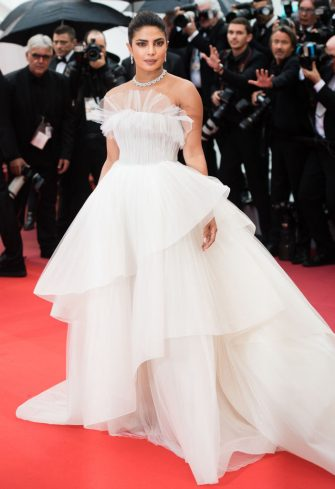"""CANNES, FRANCE - MAY 18: Actress Priyanka Chopra attends the screening of """"Les Plus Belles Annees D'Une Vie"""" during the 72nd annual Cannes Film Festival on May 18, 2019 in Cannes, France. (Photo by Samir Hussein/WireImage)"""