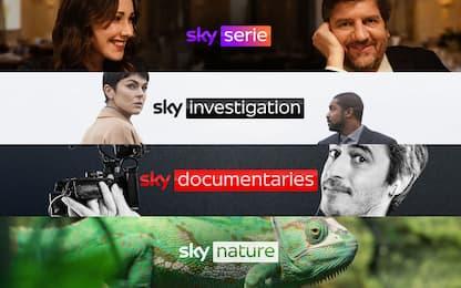 Sky, dal 1° luglio arrivano quattro nuovi canali