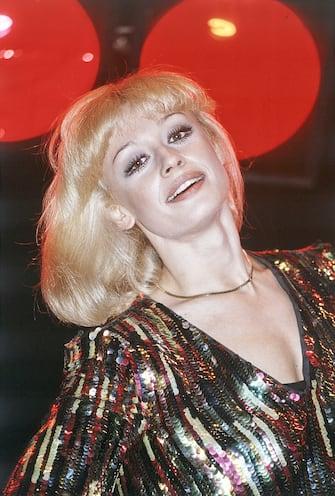 Italian showgirl Raffaella Carrà (Raffaella Maria Roberta Pelloni) smiling in the film Barbara. 1980. (Photo by Mondadori via Getty Images)