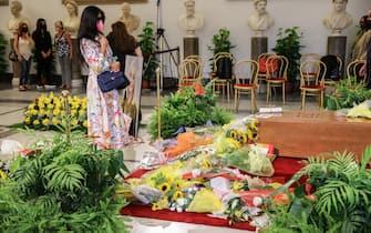 Raffaella Carrà secondo Giorno di Camera Ardente. Nella foto: Pamela Prati