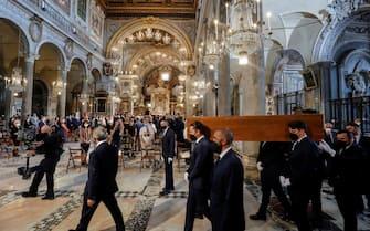 Raffaella Carra' funeral ceremony taking place in the church Santa Maria in Ara Coeli, in Rome, Italy, 09 July 202. ANSA/GIUSEPPE LAMI