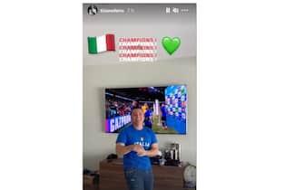 Esultanza Tiziano Ferro vittoria Euro 2020