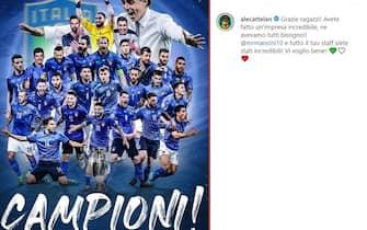 Esultanza Alessandro Cattelan vittoria Euro 2020