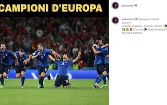 Esultanza Vasco Rossi vittoria Euro 2020