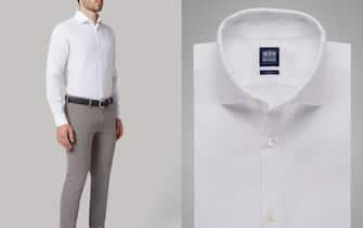 Camicia bianca collo Firenze slim fit