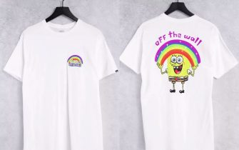 Vans X Spongebob - Imagination - T-shirt bianca con stampa sul retro
