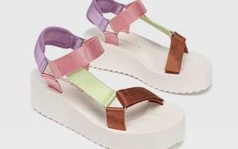 Sandali flatform multicolore