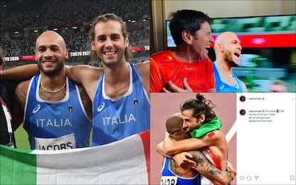 Olimpiadi Tokyo, doppio oro Tamberi-Jacobs: l'esultanza dei vip