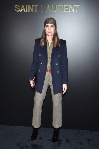 PARIS, FRANCE - FEBRUARY 25: (EDITORIAL USE ONLY) Charlotte Casiraghi attends the Saint Laurent show as part of the Paris Fashion Week Womenswear Fall/Winter 2020/2021 on February 25, 2020 in Paris, France. (Photo by Stephane Cardinale - Corbis/Corbis via Getty Images)