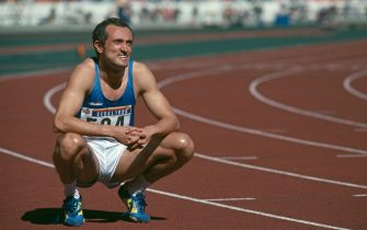 Italian sprinter Pietro Mennea (1952 - 2013) at the 1988 Summer Olympics in Seoul, South Korea, September 1988. (Photo by Mike Powell/Getty Images)