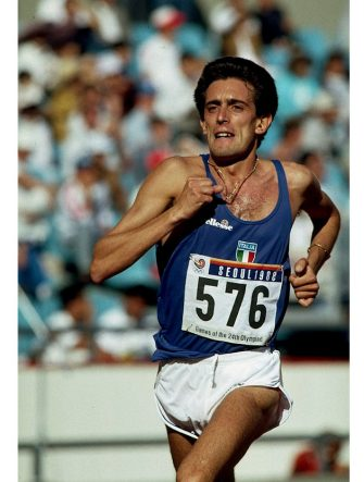 17 Sep-2 Oct 1988:  Salvatore Antibo of Italy in action during the 10,000 metres final of the 1988 Olympic Games at the Olympic Stadium in Seoul, South Korea. Antibo won the silver medal. \ Mandatory Credit: Tony  Duffy/Allsport