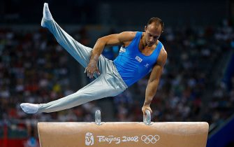 BEIJING - AUGUST 09:  Andrea Coppolino of Italy competes on the pommel horse during the artistic gymnastics event held at the National Indoor Stadium during Day 1 of the 2008 Beijing Summer Olympics on August 9, 2008 in Beijing, China.  (Photo by Cameron Spencer/Getty Images)