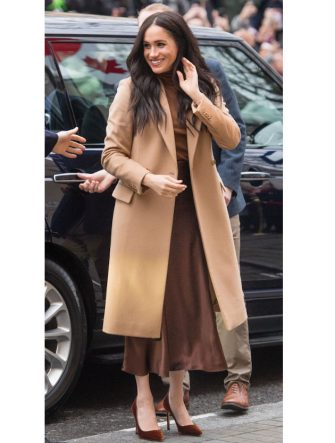LONDON, ENGLAND - JANUARY 07: Meghan, Duchess of Sussex arriveS at Canada House on January 07, 2020 in London, England. (Photo by Samir Hussein/WireImage)