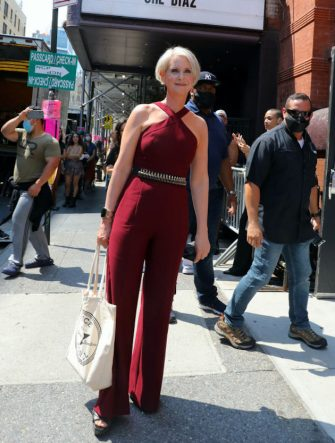 """NEW YORK, NY - JULY 15: Cynthia Nixon is seen on the set of """"And Just Like That..."""" the follow up series to """"Sex and the City"""" on July 15, 2021 in New York City.  (Photo by Jose Perez/Bauer-Griffin/GC Images)"""