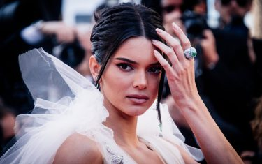 """CANNES, FRANCE - MAY 12:  (EDITORS NOTE: Image has been digitally retouched)  Model Kendall Jenner attends the screening of """"Girls Of The Sun (Les Filles Du Soleil)"""" during the 71st annual Cannes Film Festival at  on May 12, 2018 in Cannes, France.  (Photo by Gareth Cattermole/Getty Images)"""