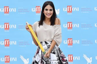 GIFFONI VALLE PIANA, ITALY - JULY 26:  Rocio Munoz Morales attends Giffoni Film Festival 2015 - Day 10 photocall on July 26, 2015 in Giffoni Valle Piana, Italy.  (Photo by Stefania D'Alessandro/Getty Images for Giffoni Film Festival)