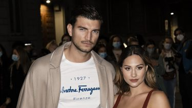 Italian model and influencer Marco Fantini and his partner Beatrice Valli guests arriving at the Salvatore Ferragamo fashion show during Milan Fashion Week 2020. Milan (Italy), September 26th, 2020 (Photo by Marco Piraccini/Archivio Marco Piraccini/Mondadori Portfolio via Getty Images)