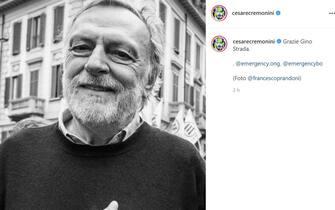 Il post di Cesare Cremonini su Instagram per ricordare Gino Strada