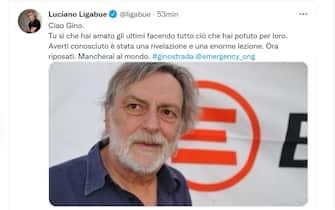 Luciano Ligabue e il suo messaggio di cordoglio per la morte di Gino Strada