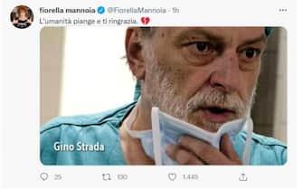 Fiorella Mannoia e il suo pensiero per la morte di Gino Strada