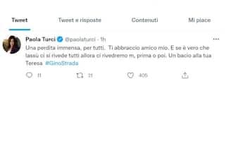 Paola Turci e il suo tweet per la morte di Gino Strada
