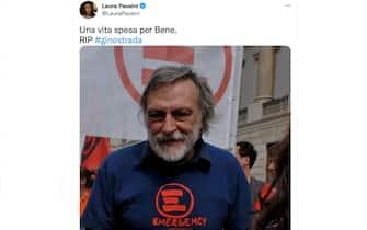 Addio Gino Strada, il cordoglio di Laura Pausini