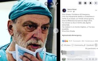 Addio Gino Strada, il cordoglio di Vasco Rossi
