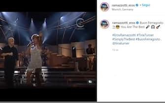 Eros Ramazzotti pubblica un video con Tina Turner per Ferragosto