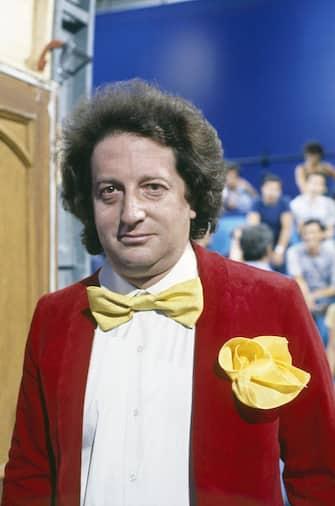 Italian comedian Gianfranco D'Angelo posing while shooting the TV show La sberla. 1978  (Photo by Marcello Salustri\Mondadori via Getty Images)