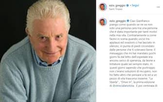 Il messaggio di ricordo di Ezio Greggio per la morte di Gianfranco D'Angelo