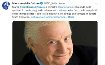 Il Ministero della Cultura e Dario Franceschini ricordano Gianfranco D'Angelo