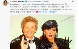 Sabrina Salerno e il suo tweet per la morte di Gianfranco D'Angelo
