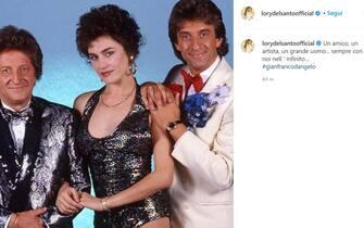 Il post su Instagram di Lory Del Santo per la morte di Gianfranco D'Angelo