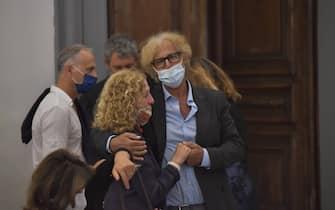 *NO WEB* NO QUOTIDIANI* Roma: la camera ardente di Piera Degli Esposti, Campidoglio. Massimo Scaglione ex compagno