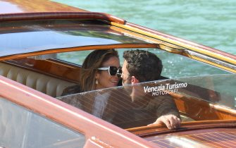 VENICE, ITALY - SEPTEMBER 09: Jennifer Lopez and Ben Affleck arrive at the 78th Venice International Film Festival on September 09, 2021 in Venice, Italy. (Photo by Jacopo Raule/Getty Images)