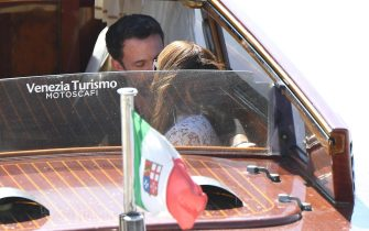 US actor Ben Affleck and US actress and singer Jennifer Lopez, arrive at Venice airport during the 78th annual Venice International Film Festival,in Venice,Italy, 09 September 2021. The festival runs from 01 to 11 September. ANSA/ETTORE FERRARI