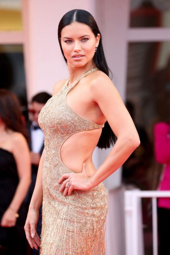 """VENICE, ITALY - SEPTEMBER 03: Adriana Lima attends the red carpet of the movie """"Dune"""" during the 78th Venice International Film Festival on September 03, 2021 in Venice, Italy. (Photo by Franco Origlia/Getty Images)"""
