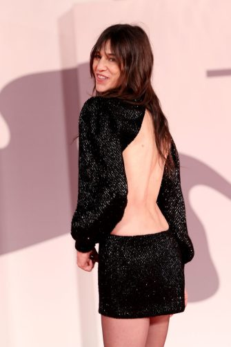 """VENICE, ITALY - SEPTEMBER 09:  Charlotte Gainsbourg  attends the red carpet of the movie """"Les Choses Humaines"""" during the 78th Venice International Film Festival on September 09, 2021 in Venice, Italy. (Photo by Franco Origlia/Getty Images)"""