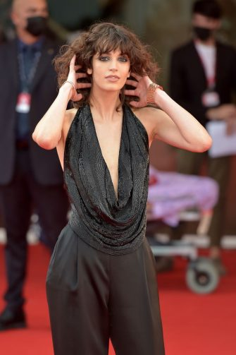 """VENICE, ITALY - SEPTEMBER 03: Greta Ferro  attends the red carpet of the movie """"Dune"""" during the 78th Venice International Film Festival on September 03, 2021 in Venice, Italy. (Photo by Dominique Charriau/WireImage)"""