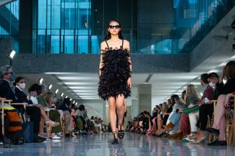 MILAN, ITALY - SEPTEMBER 23: A model walks the runway at the Max Mara fashion show during the Milan Fashion Week - Spring / Summer 2022 on September 23, 2021 in Milan, Italy. (Photo by Pietro D'Aprano/Getty Images)