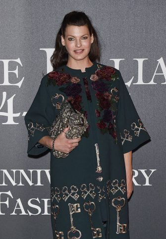 MILAN, ITALY - SEPTEMBER 21:  Linda Evangelista attends Vogue Italia 50th Anniversary Event on September 21, 2014 in Milan, Italy.  (Photo by Stefania D'Alessandro/WireImage)