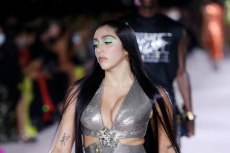 MILAN, ITALY - SEPTEMBER 24: Lourdes Maria Ciccone Leon walks the runway at the Versace fashion show during the Milan Fashion Week - Spring / Summer 2022 on September 24, 2021 in Milan, Italy. (Photo by Vittorio Zunino Celotto/Getty Images)