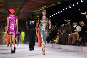 MILAN, ITALY - SEPTEMBER 24:  Lourdes Leon walks the runway at the Versace fashion show during the Milan Fashion Week - Spring / Summer 2022 on September 24, 2021 in Milan, Italy. (Photo by Jacopo Raule/Getty Images)