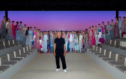 Milano Fashion Week 2021, la sfilata di Giorgio Armani. FOTO