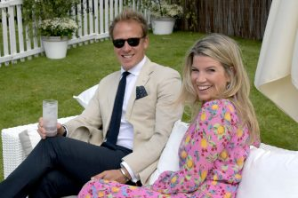 WINDSOR, ENGLAND - JUNE 16: Chris Jackson and Natasha Archer attend The Cartier Queen's Cup Polo Final 2019 on June 16, 2019 in Windsor, England. (Photo by David M. Benett/Dave Benett/Getty Images )