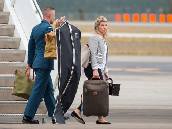 WHITEHORSE, CANADA - SEPTEMBER 27: The Duchess of Cambridge's PA and Stylist Natasha Archer arrives at Whitehorse Airport on September 27, 2016 in Whitehorse, Canada. Prince William, Duke of Cambridge, Catherine, Duchess of Cambridge, Prince George and Princess Charlotte are visiting Canada as part of an eight day visit to the country taking in areas such as Bella Bella, Whitehorse and Kelowna. (Photo by Dominic Lipinski - WPA Pool/Getty Images)