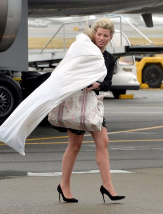 Natasha Archer arrives at Wellington Military Terminal in New Zealand on the first day of the official tour of Australia and New Zealand.   (Photo by Anthony Devlin/PA Images via Getty Images)