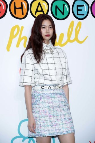 SEOUL, SOUTH KOREA - MARCH 28: Model, Chung Ho-Yeon (Jung Ho-Yeon) attends the party for the launch of CHANEL X PHARRELL Capsule Collection on March 28, 2019 in Seoul, South Korea. (Photo by Han Myung-Gu/WireImage)