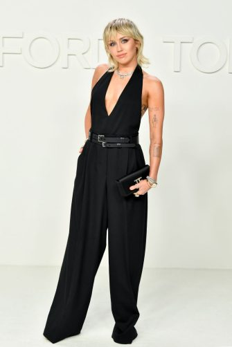 HOLLYWOOD, CALIFORNIA - FEBRUARY 07: Miley Cyrus attends the Tom Ford AW20 Show at Milk Studios on February 07, 2020 in Hollywood, California. (Photo by Amy Sussman/Getty Images)
